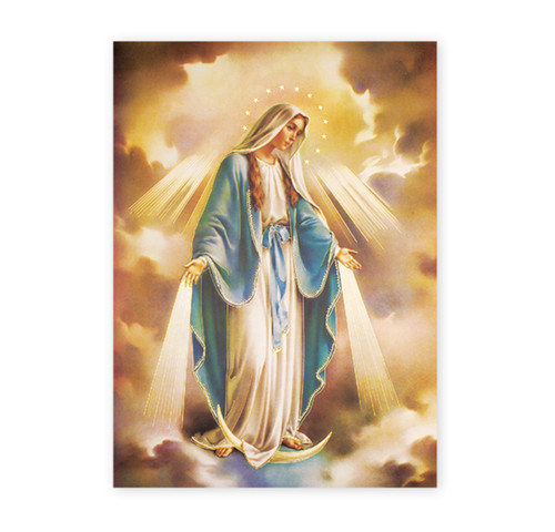 Our Lady of Grace Italian Lithograph Poster