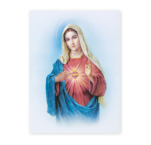 Immaculate Heart of Mary Italian Lithograph Poster