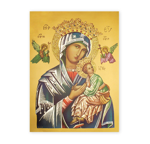 Our Lady of Perpetual Help Italian Lithograph Poster