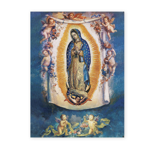 Our Lady of Guadalupe with Angels Italian Lithograph Poster