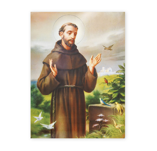 St. Francis of Assisi Italian Lithograph Poster