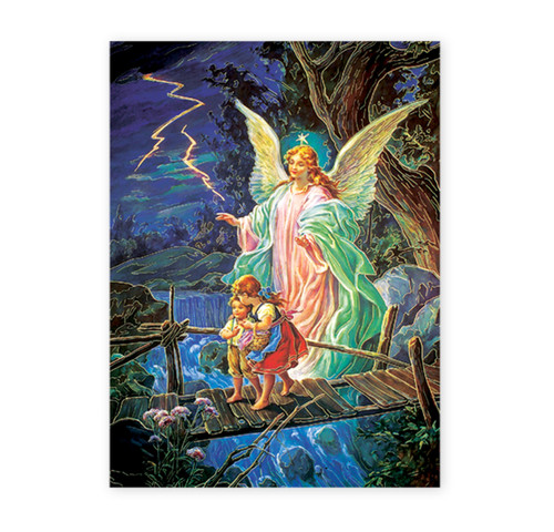 Guardian Angel Italian Lithograph Poster