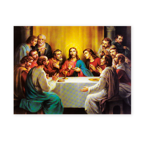 The Last Supper Italian Lithograph Poster