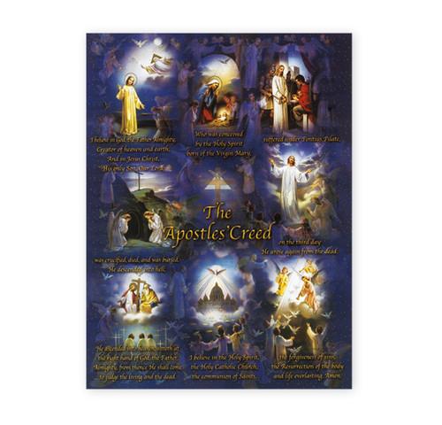 Apostles Creed Italian Lithograph Poster