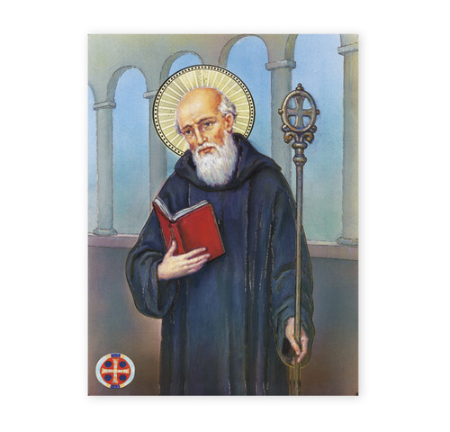 St. Benedict Italian Lithograph Poster