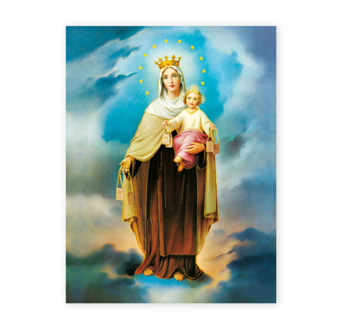 Our Lady of Mount Carmel Italian Lithograph Poster
