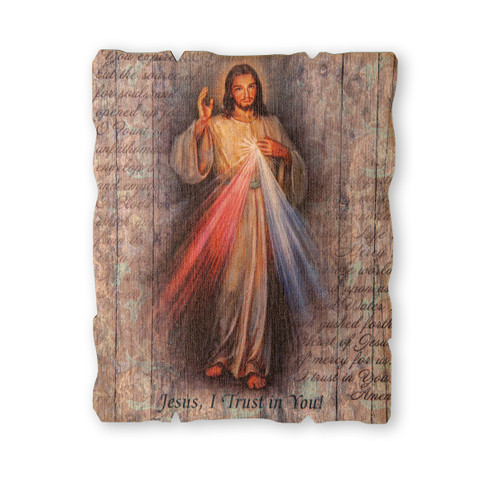 "Divine Mercy Wood Wall Plaque | 5"" x 4"""