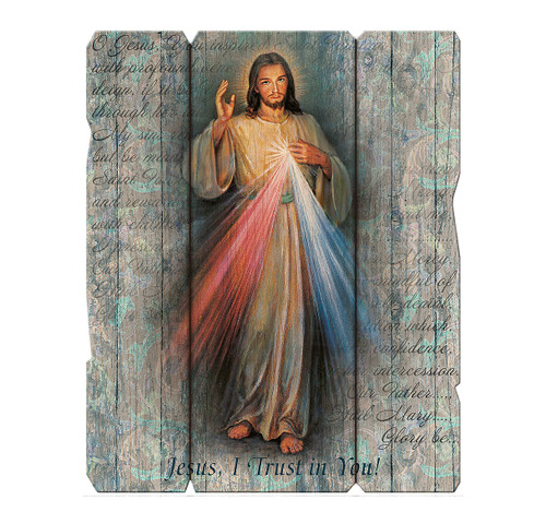 "Divine Mercy Wood Wall Plaque | 7"" x 9"""