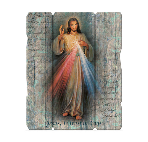 "Divine Mercy Wood Wall Plaque | 11"" x 14"""