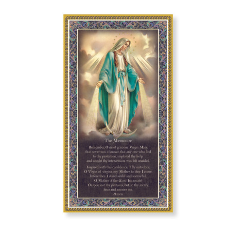 Our Lady of Grace Gold Foil Wood Plaque