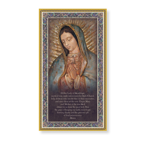 Our Lady of Guadalupe Gold Foil Wood Plaque