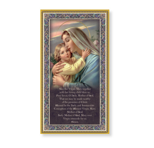 Madonna and Child Gold Foil Wood Plaque