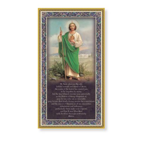 St. Jude Gold Foil Wood Plaque