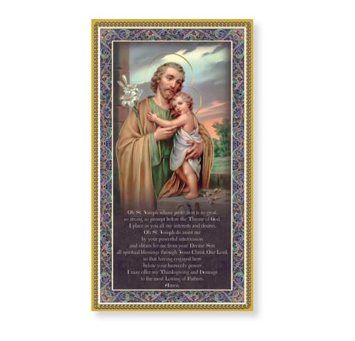 St. Joseph Gold Foil Wood Plaque