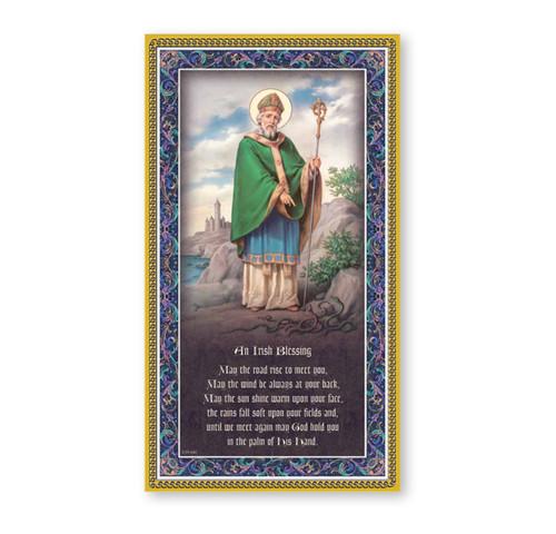 St. Patrick Gold Foil Wood Plaque