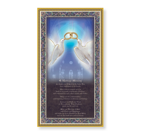 Marriage Blessing Gold Foil Wood Plaque