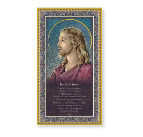 The Lord's Prayer Gold Foil Wood Plaque