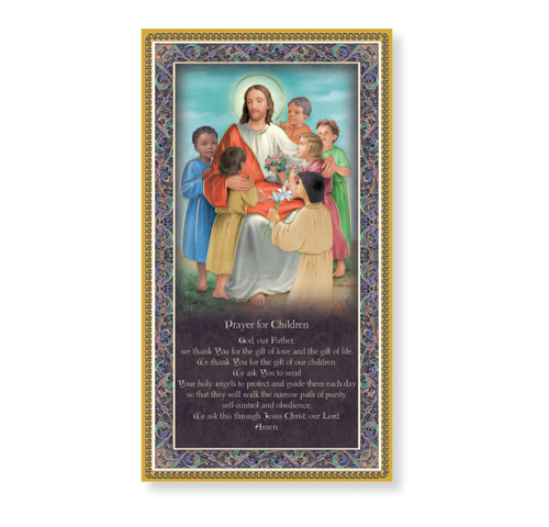 Prayer for the Children Gold Foil Wood Plaque