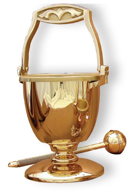 #30PS90 Holy Water Pot & Sprinkler | Multiple Finishes Available