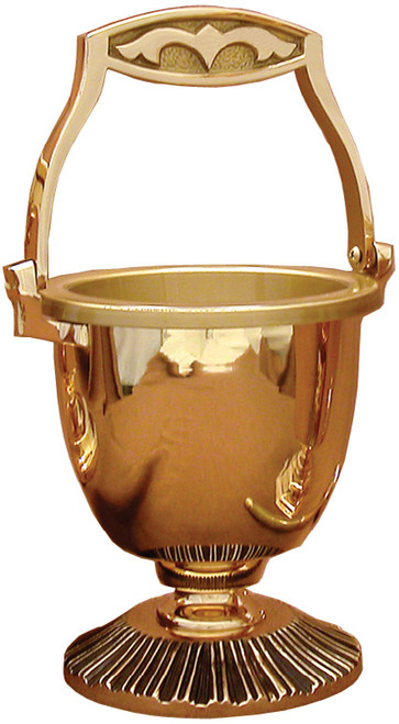 #19PS36 Holy Water Pot & Sprinkler | Multiple Finishes Available