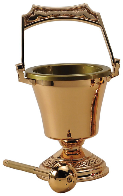 #99PS40 Holy Water Pot & Sprinkler | Multiple Finishes Available