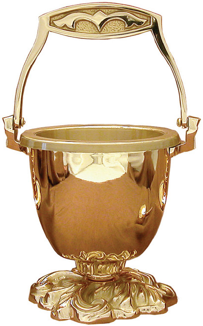 #61PS93 Holy Water Pot & Sprinkler | Multiple Finishes Available