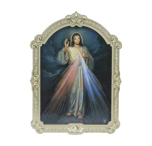 "Divine Mercy Wood 3D Plaque   5"""