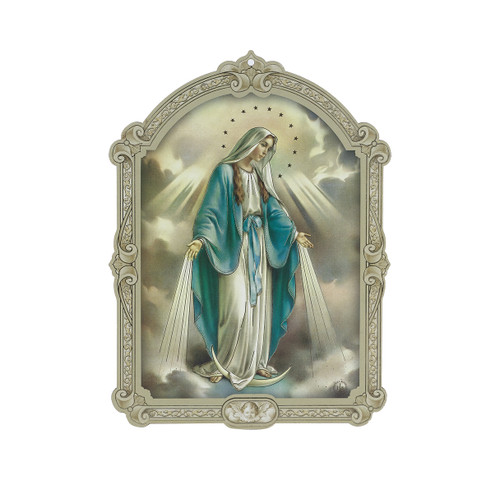 """Our Lady of Grace Wood 3D Plaque   5"""""""