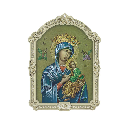Our Lady of Perpetual Help Wood 3D Plaque | 5""