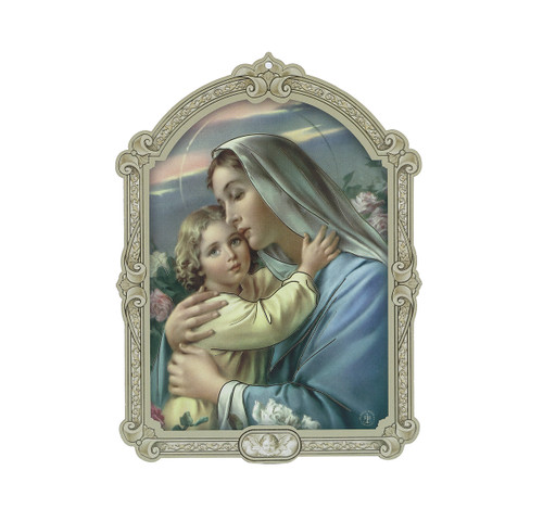 Madonna and Child Wood 3D Plaque | 5""