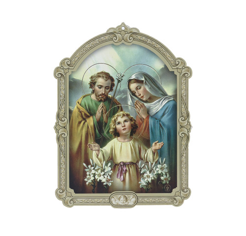 Holy Family Wood 3D Plaque | 5""