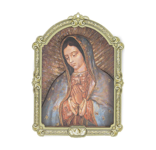 Our Lady of Guadalupe Wood 3D Plaque | 9""