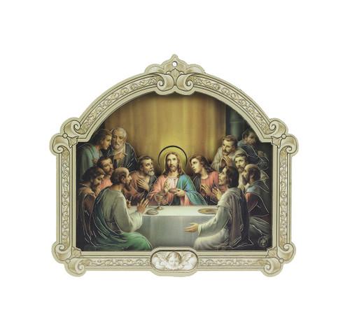 "The Last Supper Wood 3D Plaque | 9"""