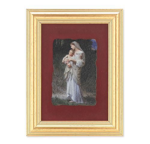 Divine Innocence Gold Framed Italian Fresco   Red Velvet Lining
