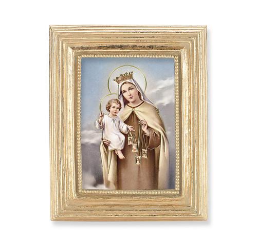 Our Lady of Mount Carmel Square Framed Print | Gold Frame