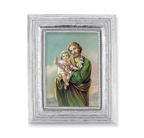 St. Joseph Square Framed Print | Silver Frame