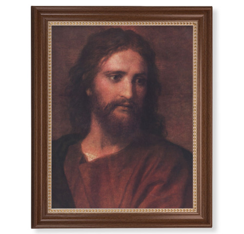 "Christ at 33 Dark Walnut Framed Art | 11"" x 14"""