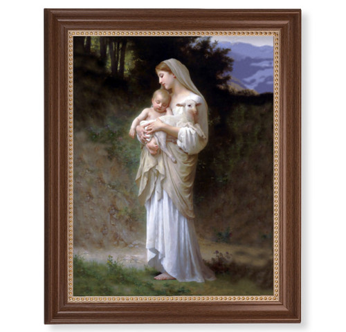 "Divine Innocence Dark Walnut Framed Art | 11"" x 14"""