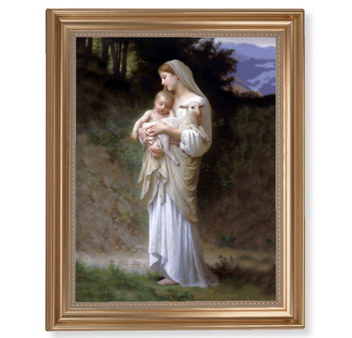 "Divine Innocence Classic Gold Framed Art | 11"" x 14"""