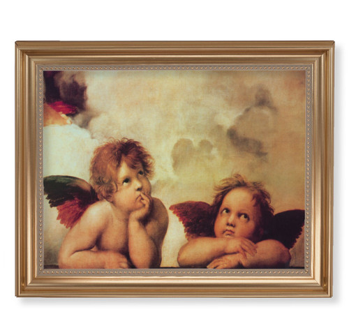 "Sistine Angels Classic Gold Framed Art | 11"" x 14"""