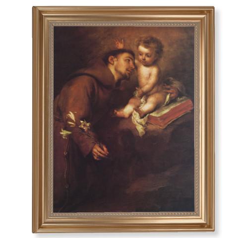 "St. Anthony Classic Gold Framed Art | 11"" x 14"""