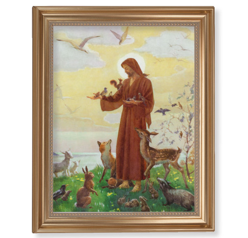 "St. Francis Classic Gold Framed Art | 11"" x 14"""