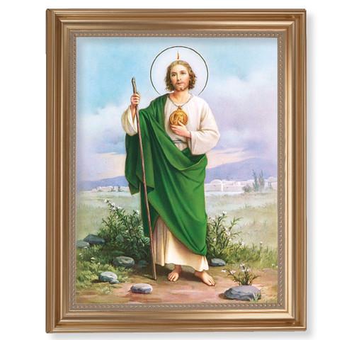 "St. Jude Classic Gold Framed Art | 11"" x 14"""