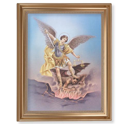 "St. Michael Classic Gold Framed Art | 11"" x 14"""