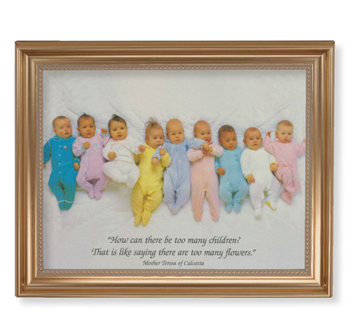 "St. Teresa of Calcutta Quote Classic Gold Framed Art | 11"" x 14"""