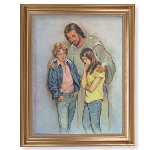 "The Comforter Classic Gold Framed Art | 11"" x 14"""