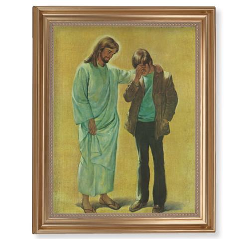"The Pardoning Classic Gold Framed Art | 11"" x 14"""