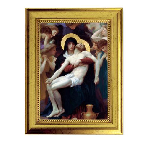 "Beautifual Pieta Gold-Leaf Framed Art | 5"" x 7"""