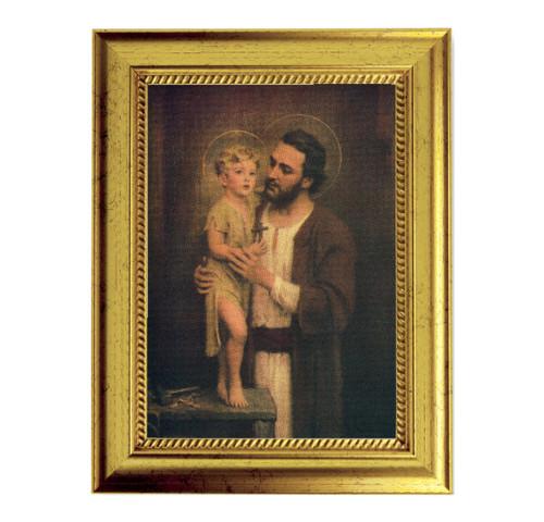 "St. Joseph Gold-Leaf Framed Art | 5"" x 7"" | Style A"