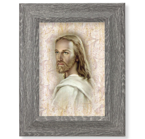 "Head of Christ Dark Gray Framed Art | 5"" x 7"""